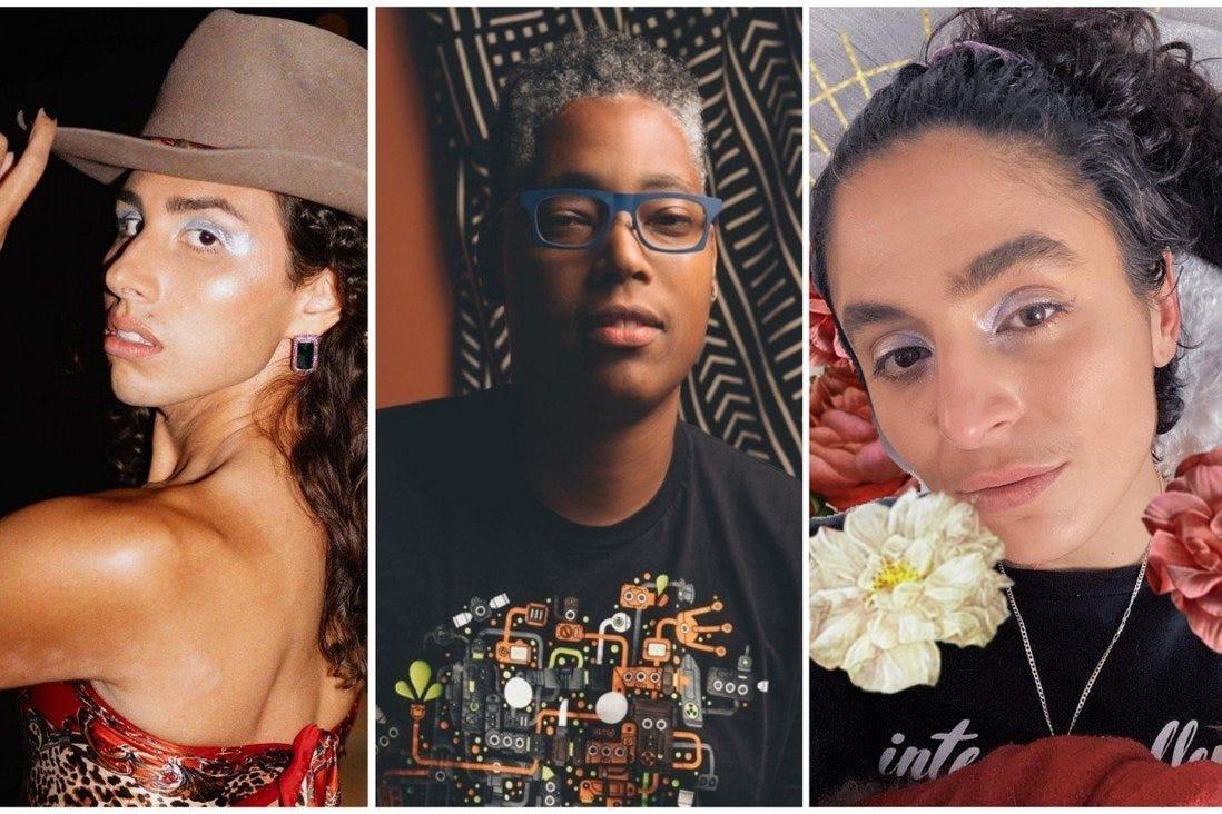 Intersex activists fighting prejudice and stigma, from left, River Gallo, Sean Saifa Wall and Pidgeon Pagonis. Photos: @rivergallo, @saifaemerges, @pidgeon/Instagram
