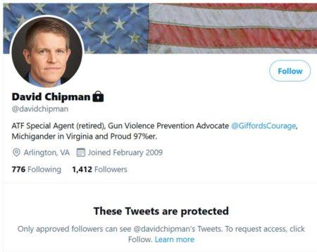 David Chipman Hides his Twitter Account