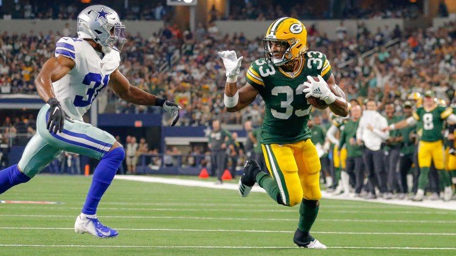 Aaron Jones fined for waving goodbye during touchdown run - ProFootballTalk