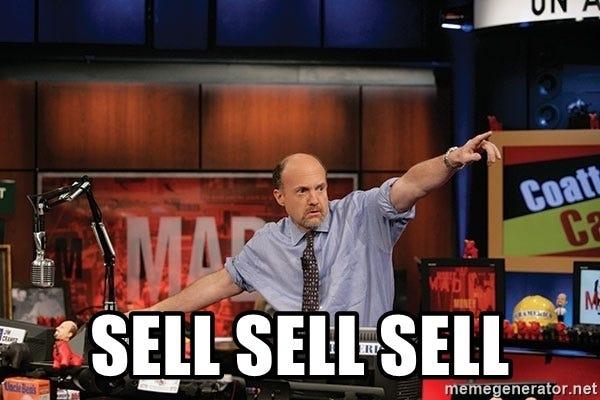 sell sell sell - Jim Cramer sell sell sell   Meme Generator