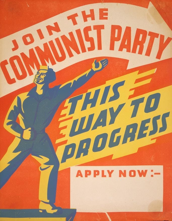 Communist Party poster, 1940s   NZHistory, New Zealand history online
