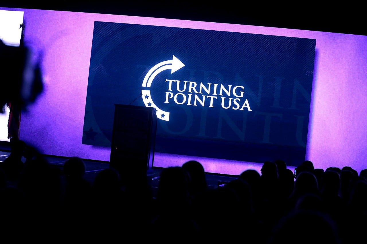 Sign at Turning Point USA's 2018 Young Women's Leadership Summit in Dallas.