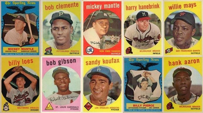 10 Most Valuable 1959 Topps Baseball Cards | Old Sports Cards