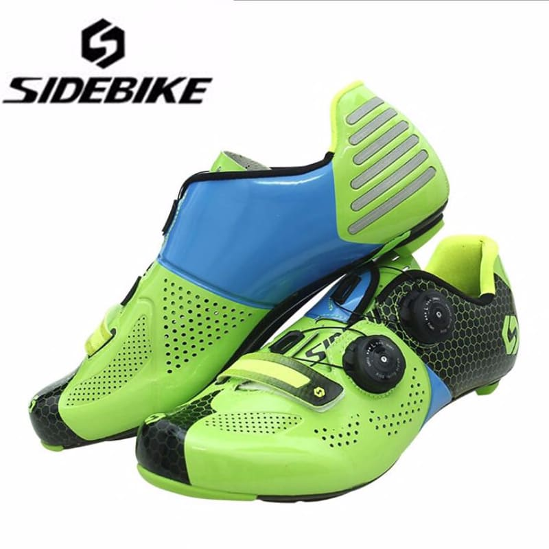 Sidebike Carbon Fiber Cycling Shoes add pedal set sapatilha ciclismo men sneakers self-Locking Road Bike Athletic Riding Shoes