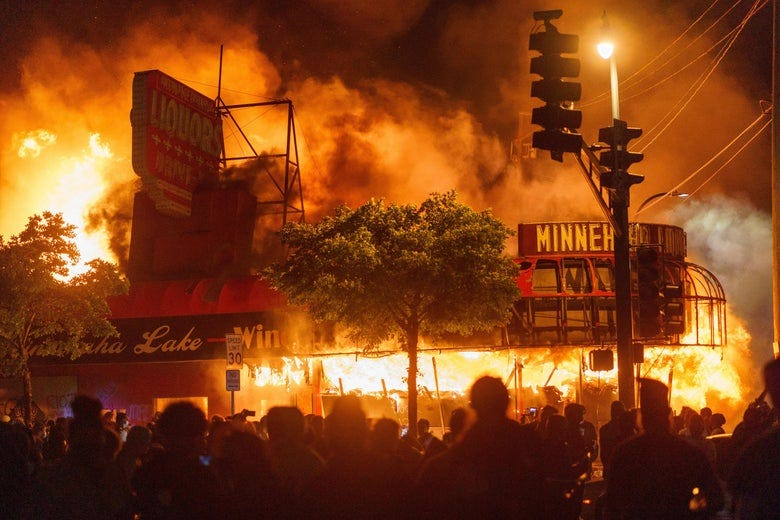 Protests, looting escalates in Minneapolis police violence protest over  George Floyd's death.