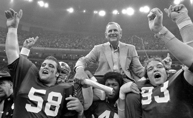 PERSEVERANCE: Former Bama star set to graduate 37 years after promising  Bear Bryant he'd earn his degree - Yellowhammer News | Yellowhammer News
