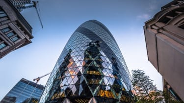 The Gherkin building in London's financial sector