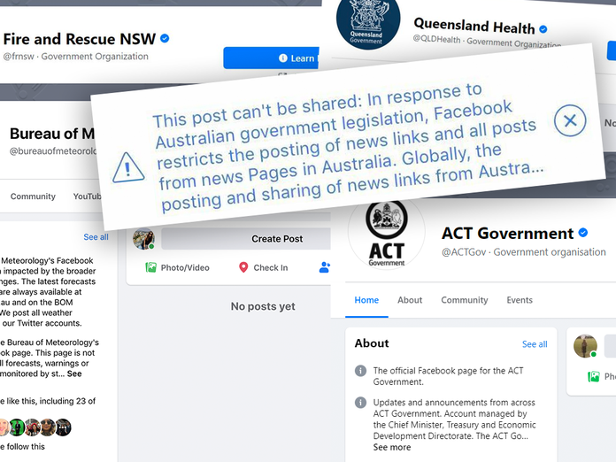 Facebook news Ban: Emergency services, government health departments,  Bureau of Meteorology and state health pages caught up in social media block