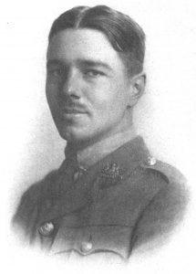 Engraving of Wilfred Owen.