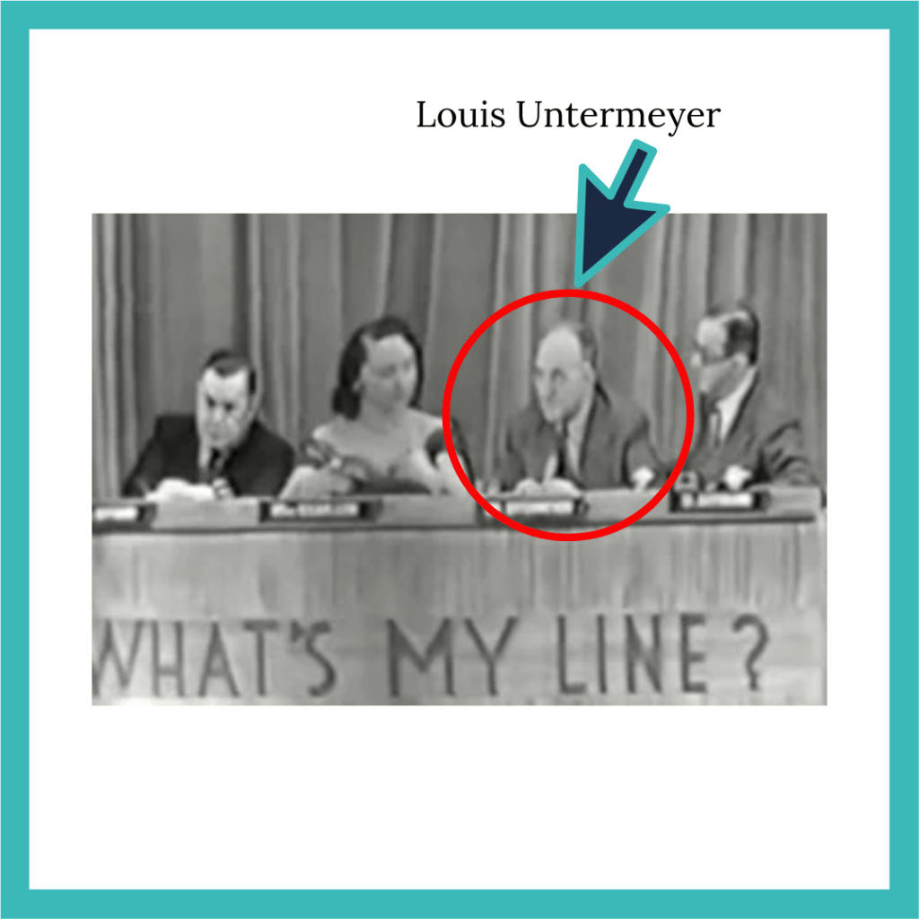 """Original panelists for """"What's My Line?,"""" including Louis Untermeyer"""