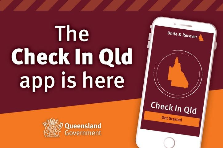 Image of the Queensland Government's check in application