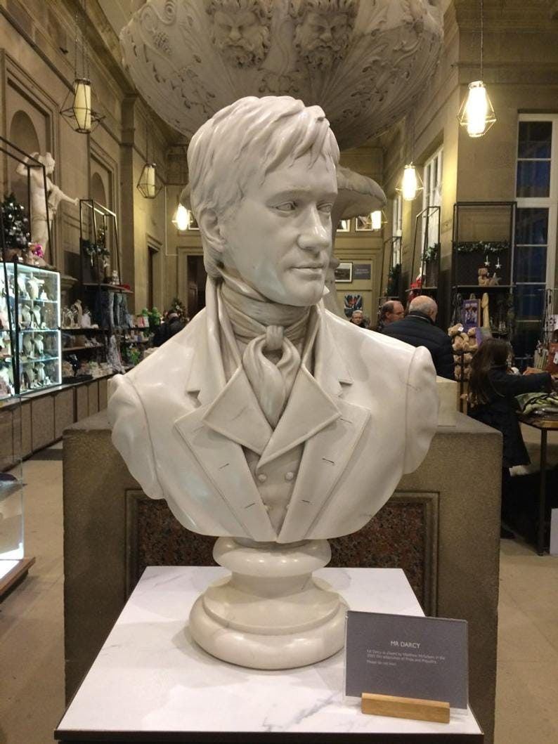 Mr. Darcy marble bust from the film 'Pride and image 2