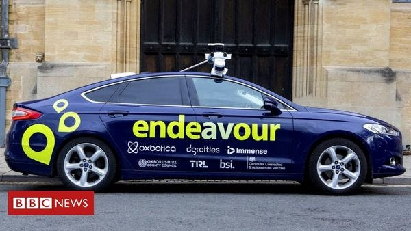 Self-driving car tests begin on Oxford's roads.
