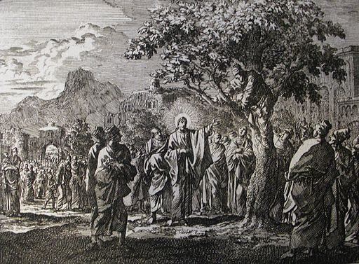 Jan Luyken's Jesus 21. Zacchaeus. Phillip Medhurst Collection
