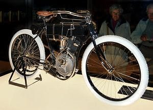 First every harley davidson motorcyle was essential a bike with a motor