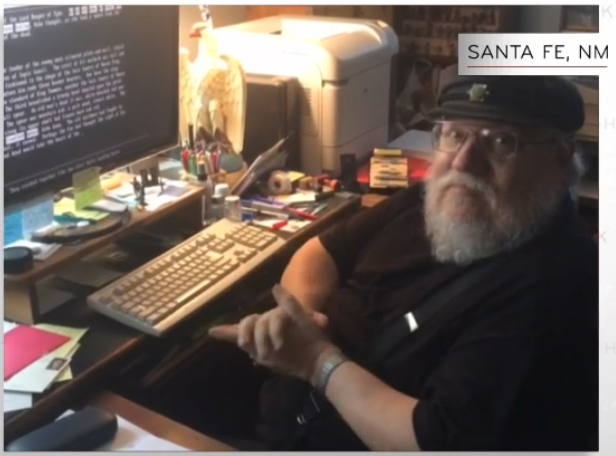 No Spoilers] Screen cap of GRRM during the John Oliver sketch, DOS in full  effect : gameofthrones