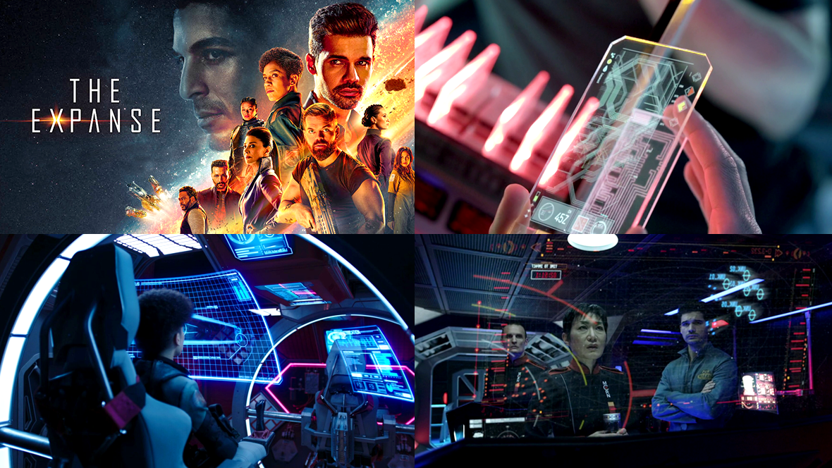 Collage of screenshots from the TV show The Expanse