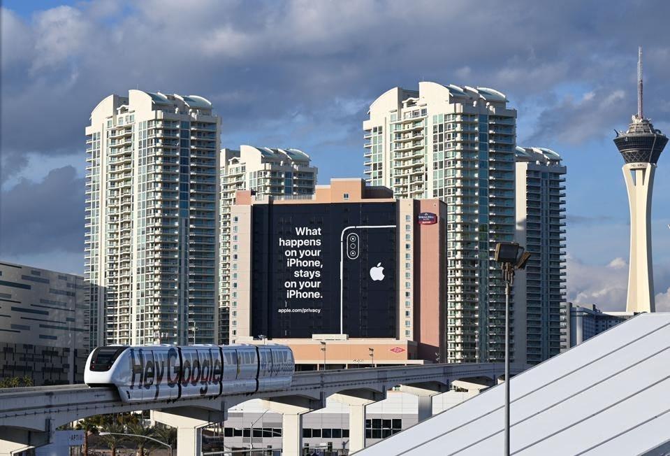 An Apple advert in Las Vegas - January 2019.