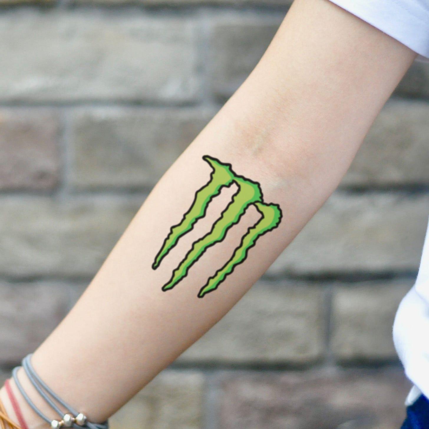 Monster Energy Drink Logo Temporary Tattoo Sticker - OhMyTat