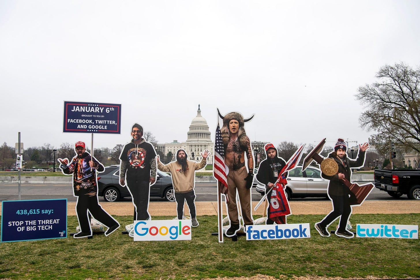 cutouts of social media moguls