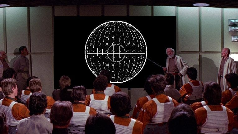 Death Star Mission Briefing from Start Wars: A New Hope