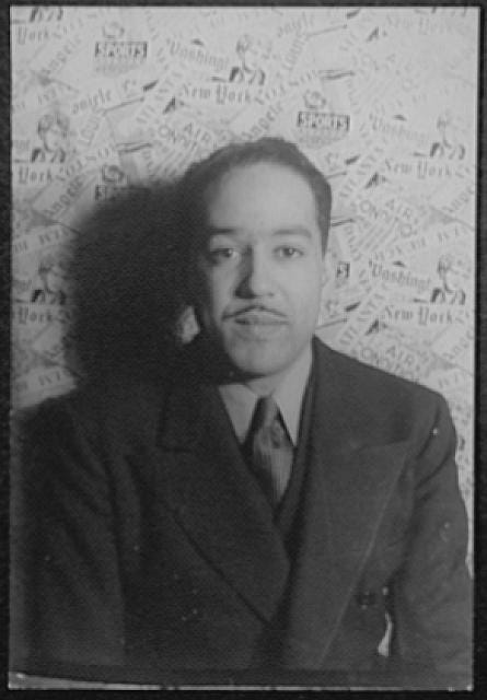 Portrait photo of Langston Hughes.