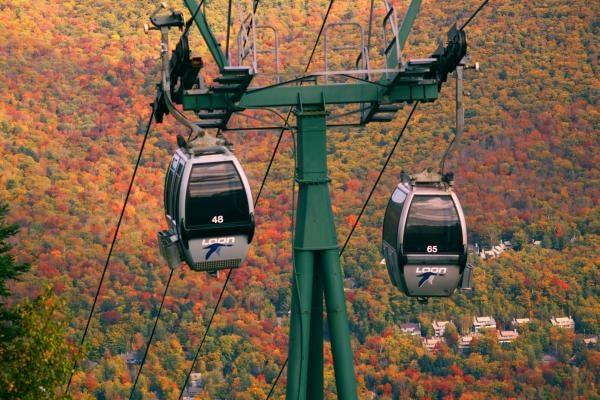 Loon Gondola Fall Foliage