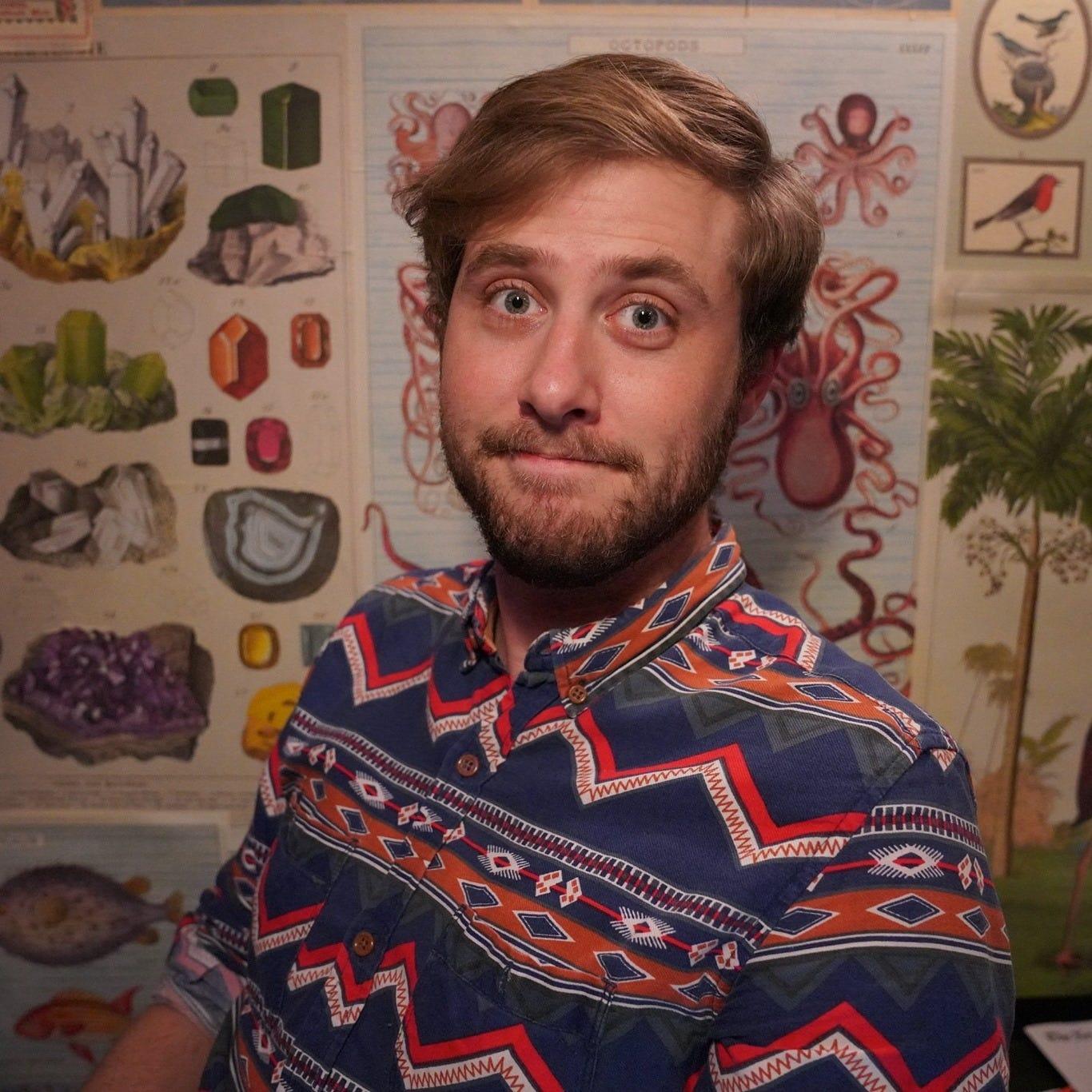 Ryan Broderick in his favorite shirt