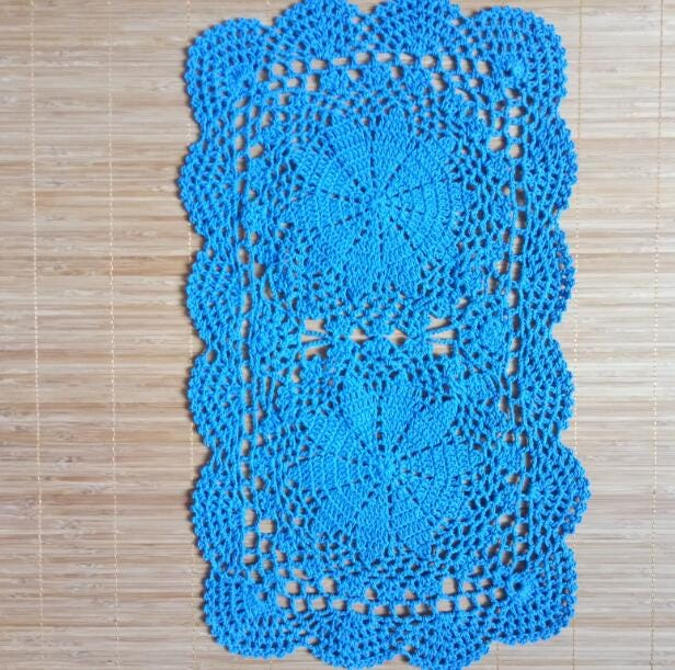HOT handmade cotton lace placemat cup coaster mug kitchen coffee table place mat cloth Crochet doily tea Christmas pan dish pad