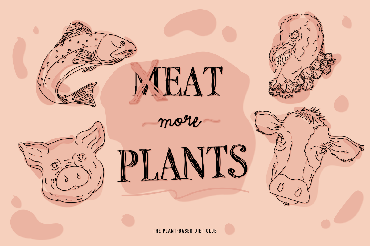 The Plant-Based Diet Club illustration by Anahi Alanis @anahialanisastudio