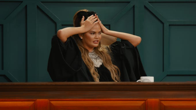 WATCH] 'Chrissy's Court' Trailer: Judge Chrissy Teigen Presides In ...