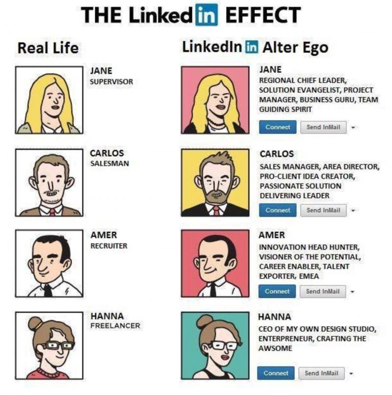 linkedin - Hahahah :) alter ego - devRant