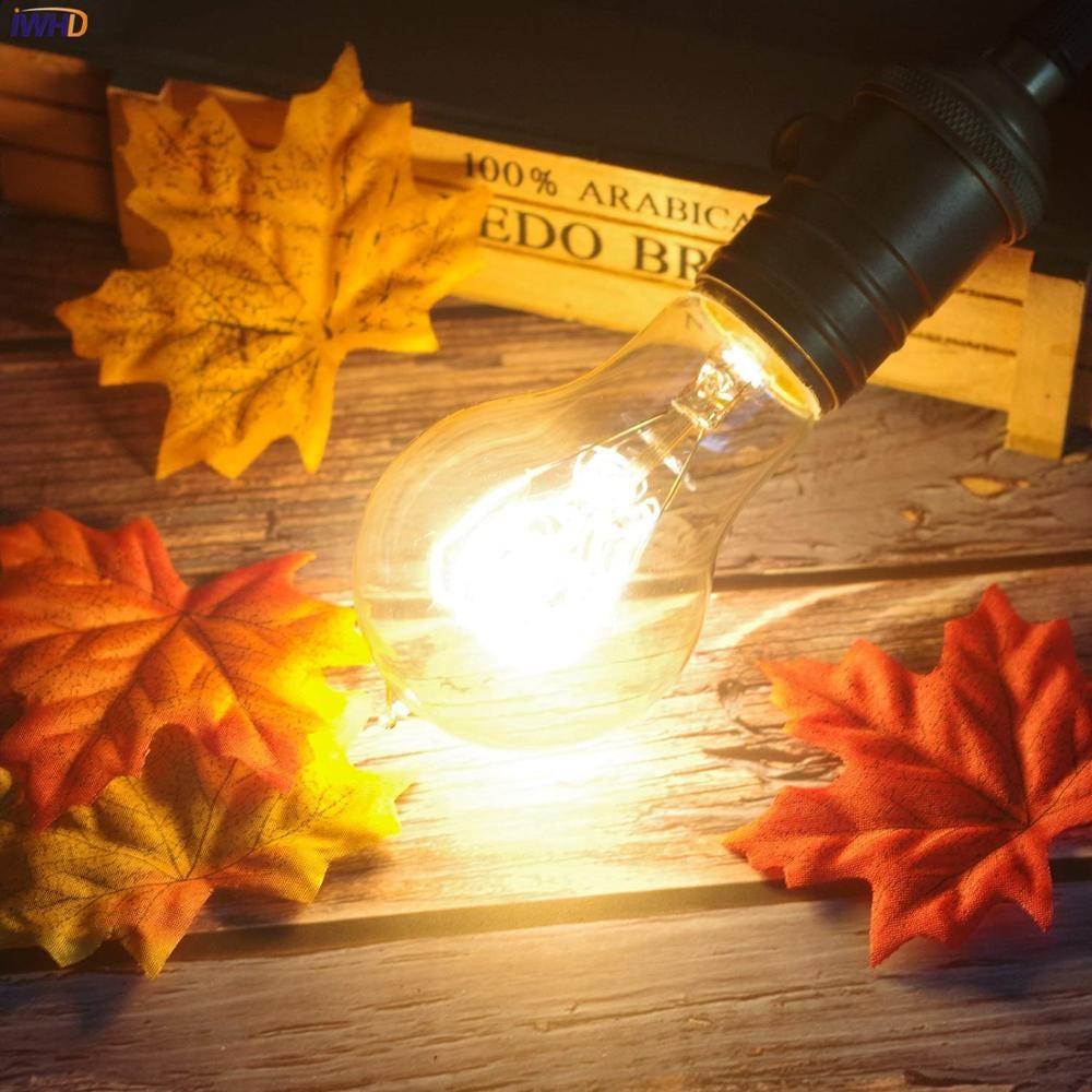 IWHD Ampoule Lampara Vintage Lamp Edison Bulb  A19 ST58 40W Loft Industrial Decor Retro Light Bulb Ampul Bombillas Gloeilamp