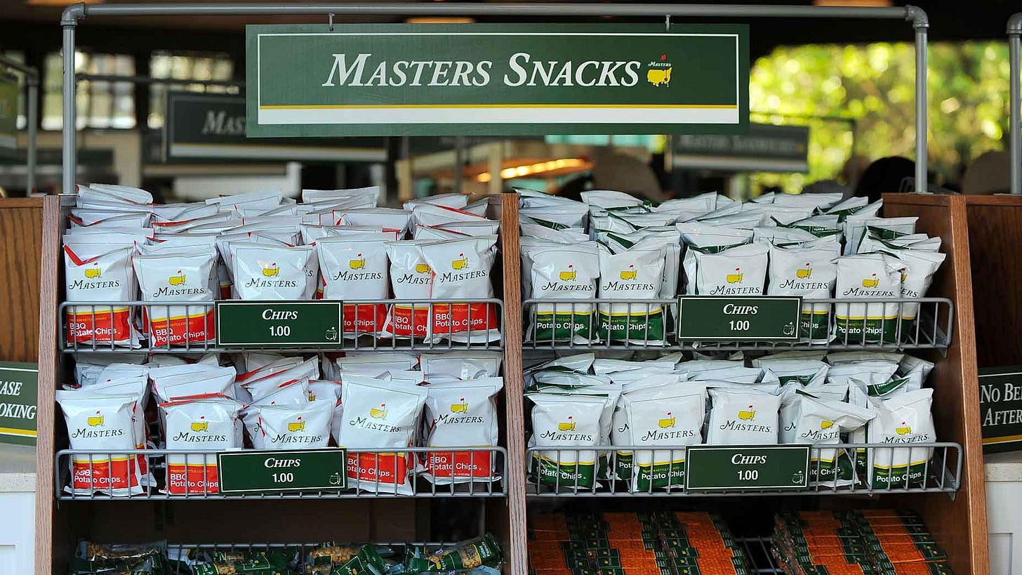 Here's what Augusta National did with unused Masters concessions