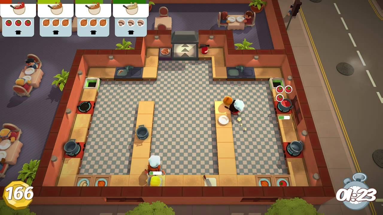 Overcooked Level 2-2 2 Player Co-op 3 Stars - YouTube