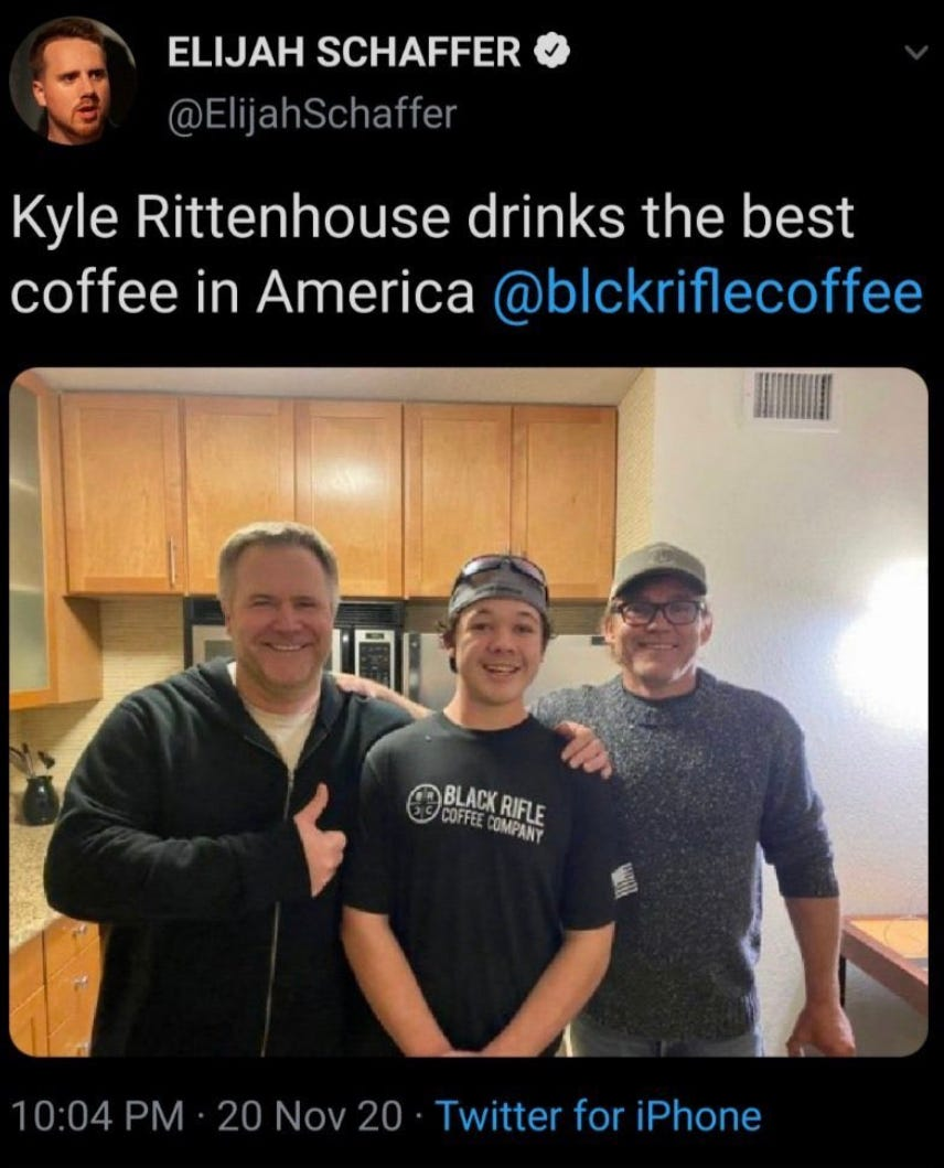 Black Rifle Coffee Company Serves Decaf With Extra Cream And Sugar Re Kyle Rittenhouse