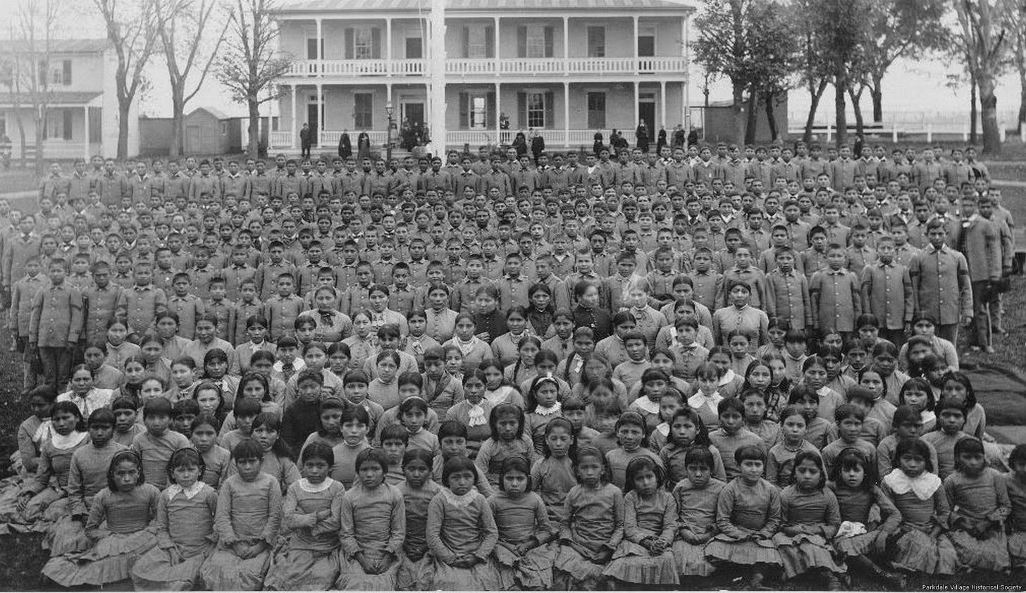 American Genocide: the violent removal of Native American children from their families and culture.