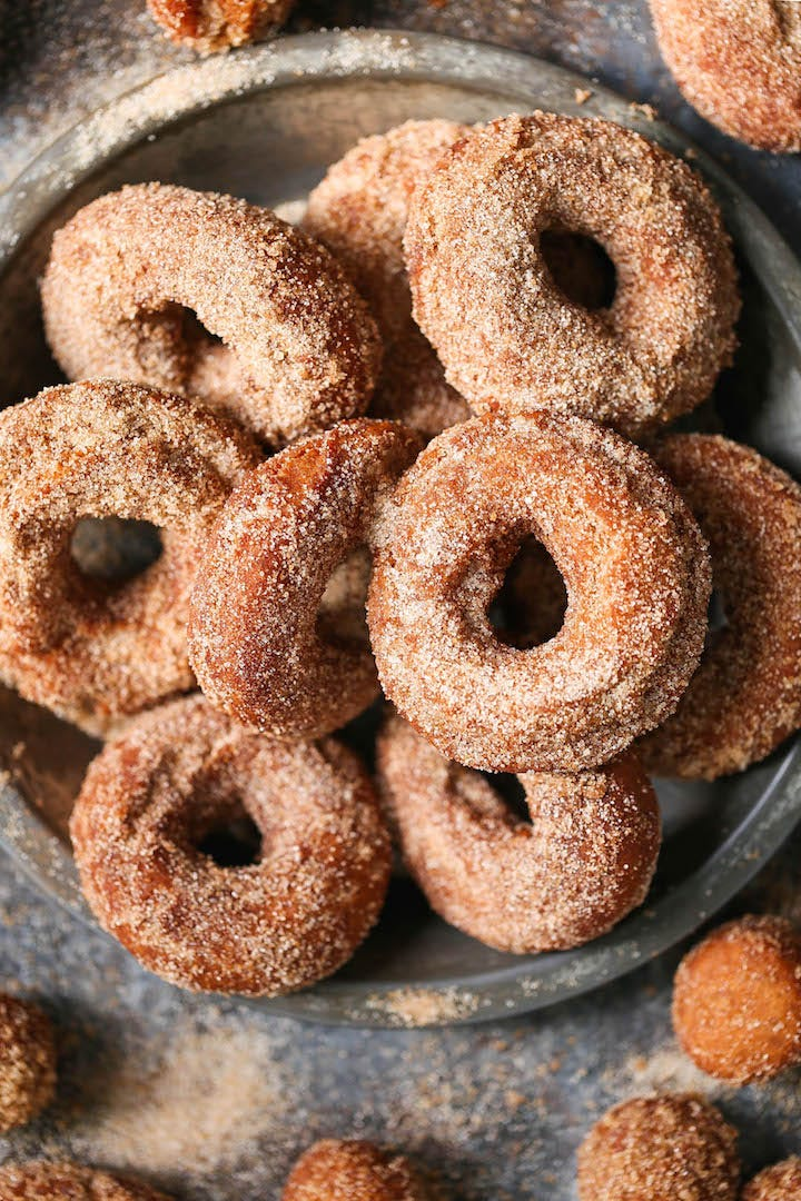 Apple Cider Donuts - There's nothing truly better than biting into a warm, fresh donut coated in cinnamon sugar. It melts in your mouth with every bite!