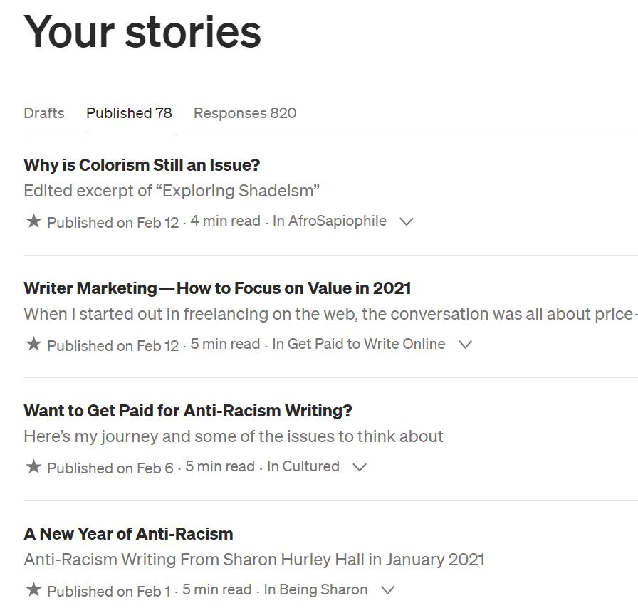 Medium stories