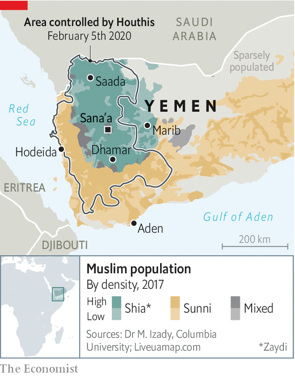 Mimicking the mullahs - The Houthi model of government | Middle East &  Africa | The Economist