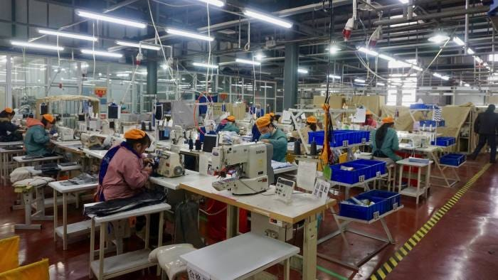 China moves its factories back to the countryside | Financial Times