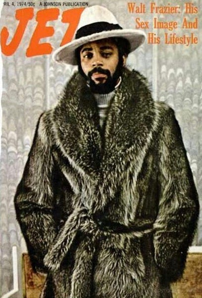 """Super 70s Sports on Twitter: """"Walt Frazier took pimping into the  stratosphere one night in '74 by posting a triple-double when he scored 22  points, dished out 11 assists, and wore the"""