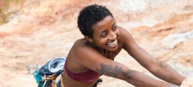 abby dione rock climbing