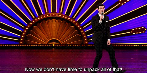 """Image result for john mulaney now we don't have time to unpack all of that"""""""