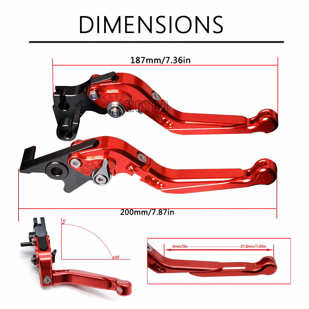 Motorcycle Aluminum Brake Clutch Levers For Bajaj Pulsar 200 NS All Years Pulsar 200NS Adjustable Extendable Lever Accessories