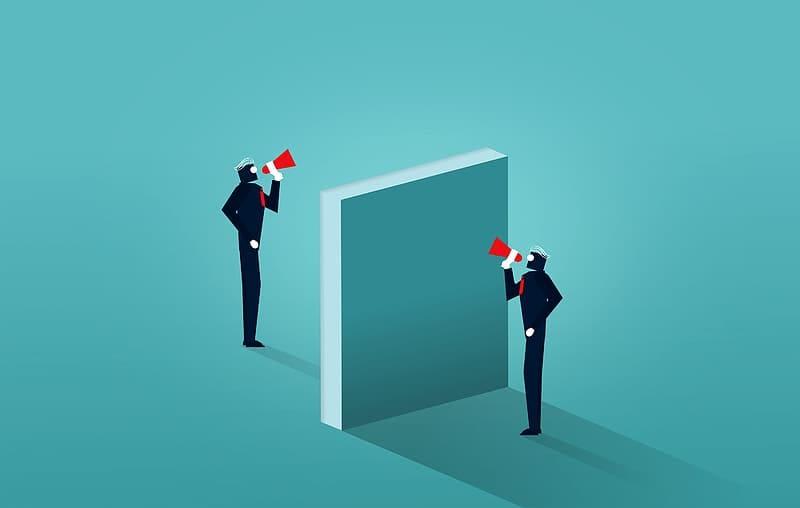 Broken Communication - Businessmen Unable to Communicate | Pikrepo