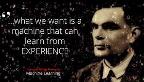 """Machine Learning Department at CMU on Twitter: """"""""... what we want is a  machine that can learn from experience."""" ~ Alan Turing, London Mathematical  Society, February, 1947 #mldcmu #machinelearning #ai #ml  #artificialintelligence #"""