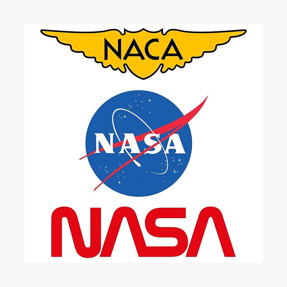 "Historic NASA Worm, Meatball, and NACA Logo"" Poster by jutulen ..."