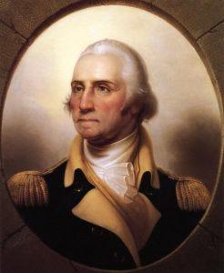 Portrait of George Washington.