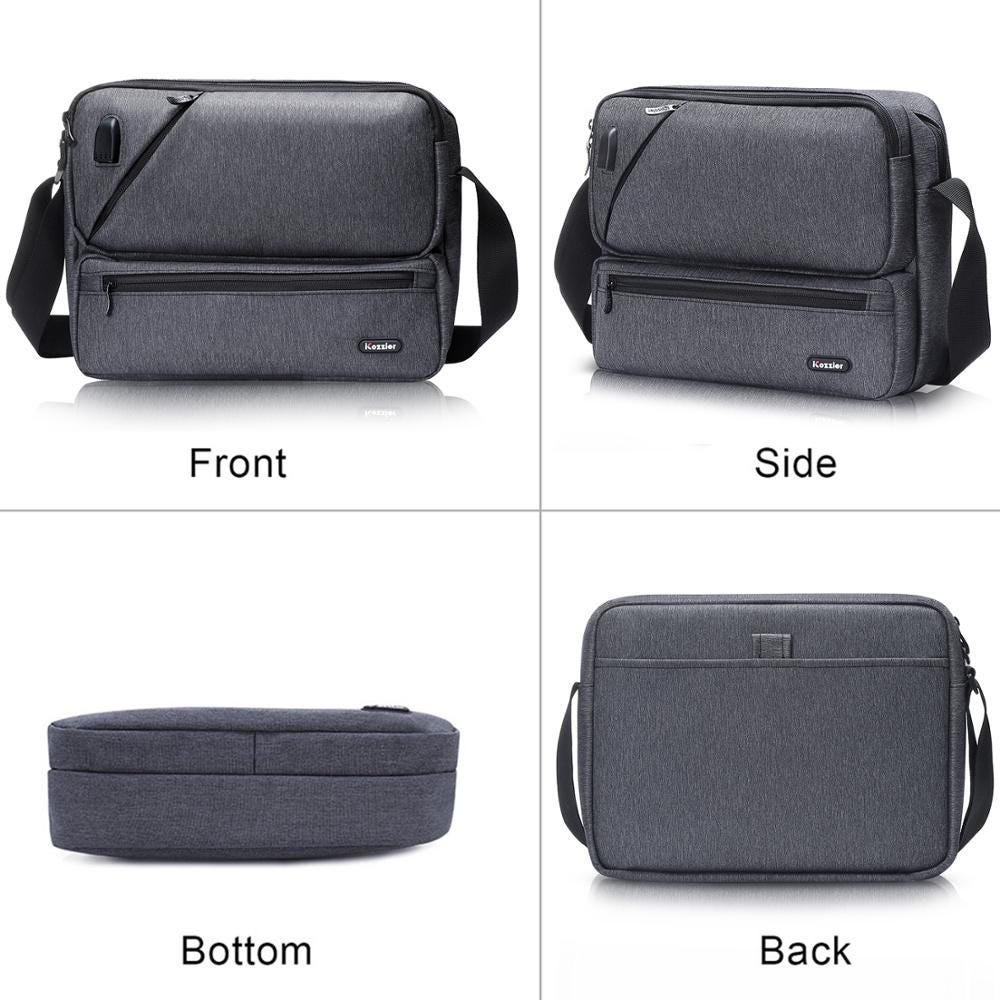 iCozzier Multipurpose/Multi-Space Crossbody Bags Electronic Accessories Organizer Storage Sling Messenger Bag for iPad,Umbrella,